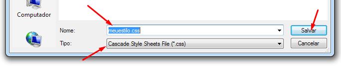Arquivo CSS