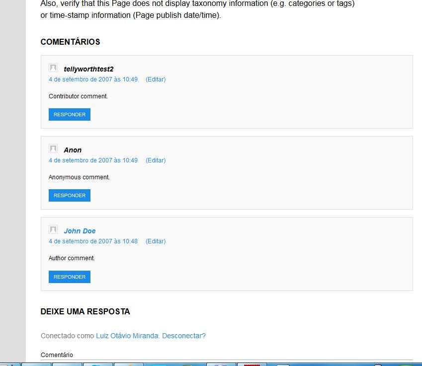 Sistema de comentários - Tutsup Básico