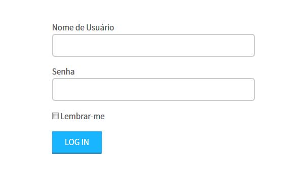 Formulário de login