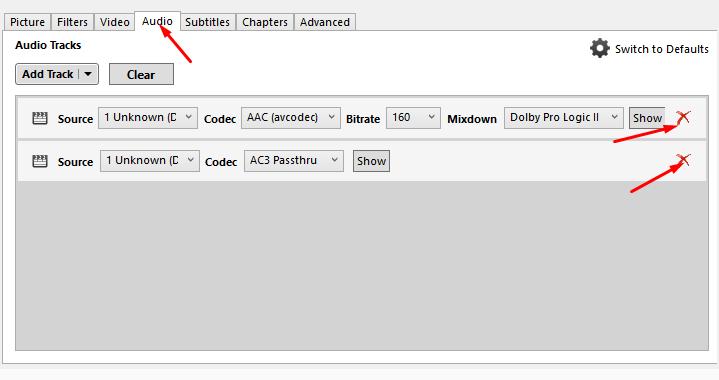 Remover áudios pré-selecionados