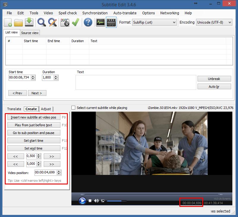 Criando legendas SRT com o Subtitle Edit