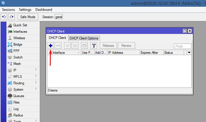 Adicionando um DHCP client