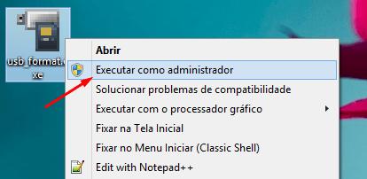 Executando o USB Disk Storage Format