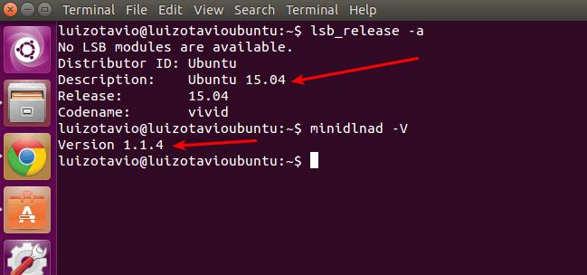 Versão do Ubuntu 15.04 - MiniDLNA 1.1.4