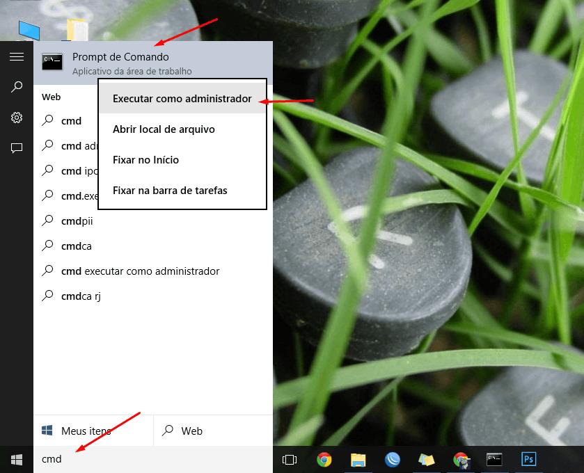 Executar como administrador no Prompt de comando do Windows 10