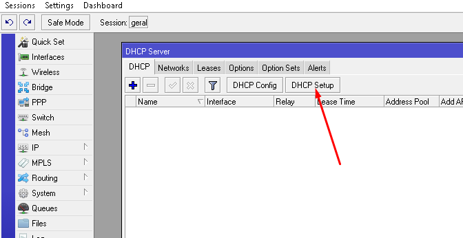 IP - dhcp-server - DHCP Setup
