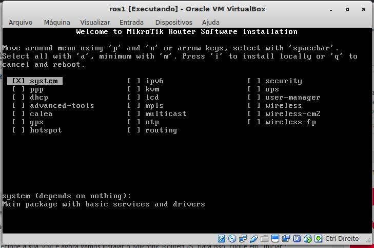 Instalação do RouterOS