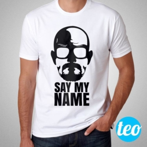 Camiseta Breaking Bad - Say My Name - Masculina Branca Cover
