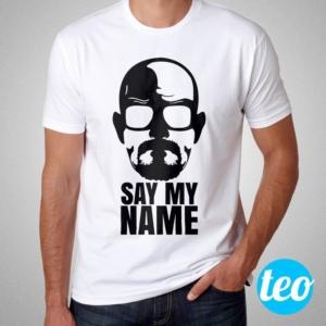 Camiseta Breaking Bad - Say My Name - Masculina Branca Cover