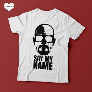 Camiseta Breaking Bad - Say My Name - Feminina