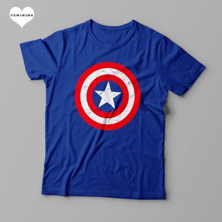 Camiseta escudo Capitão América - Feminina