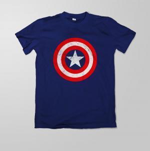Camiseta escudo Capitão América - Masculina