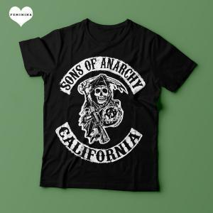 Camiseta Sons Of Anarchy California - Feminina
