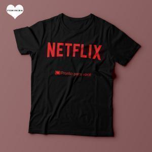 Camiseta Netflix Pronto para você - Feminina