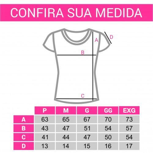 Tamanhos de camisetas femininas