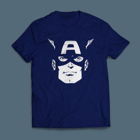 Camiseta Capitão América Masculina Azul Marinho
