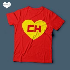 Camiseta Chapolin Colorado Feminina Vermelha
