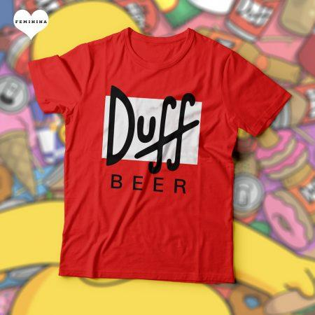 Camiseta Duff Beer Os Simpsons Feminina