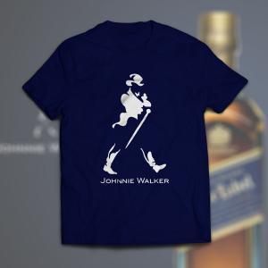 Camiseta Johnnie Walker Masculina Azul Marinho