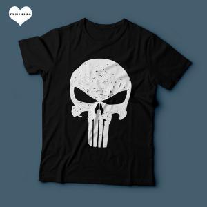 Camiseta O Justiceiro Feminina Preta