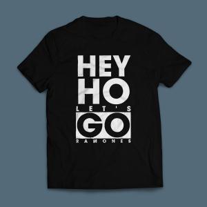 Camiseta Ramones Hey Ho Lets Go Masculina Preta