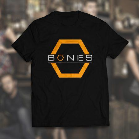 Camiseta série Bones Masculina Preta
