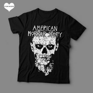 Camiseta American Horror Story Feminina Preta