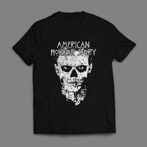 Camiseta American Horror Story Masculina Preta