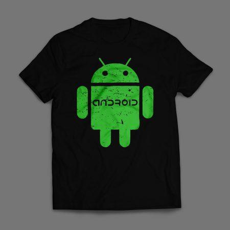 Camiseta Android Masculina Preta