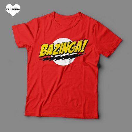 Camiseta Bazinga Feminina Vermelha