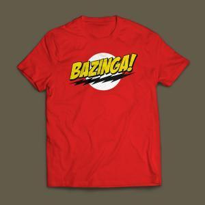 Camiseta Bazinga Masculina Vermelha