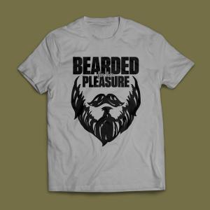 Camiseta Bearded For Her Pleasure Cinza Mescla