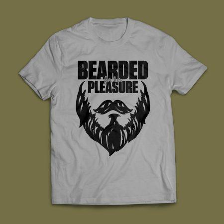 Camiseta Bearded For Her Pleasure Cinza Mescla