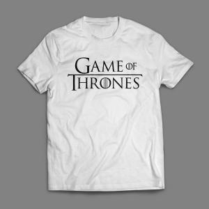 Camiseta Game Of Thrones Logo Masculina Branca