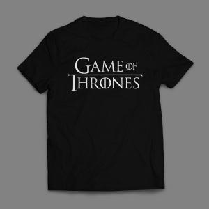 Camiseta Game Of Thrones Logo Masculina Preta
