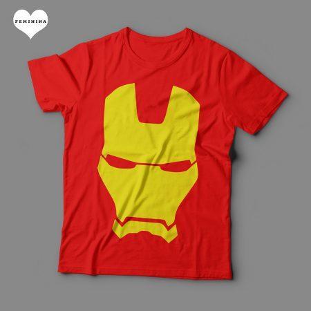 Camiseta Homem de Ferro Feminina Vermelha