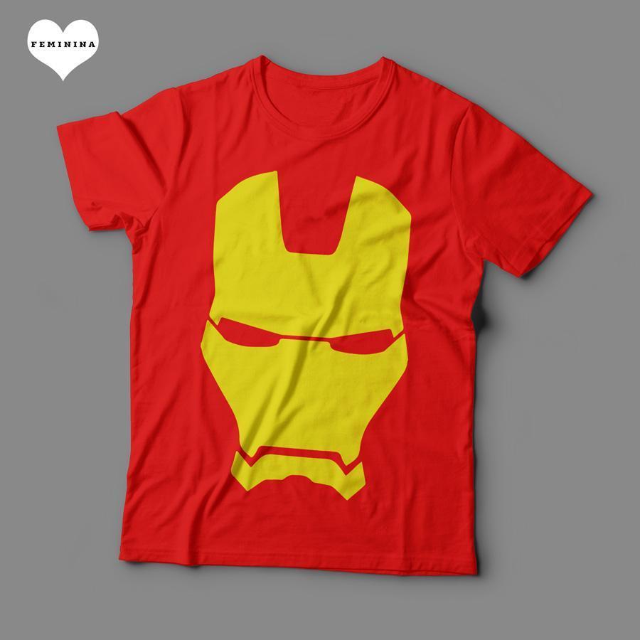 Camiseta Homem de Ferro Feminina - Teo Shop de0d7e51b2ca3