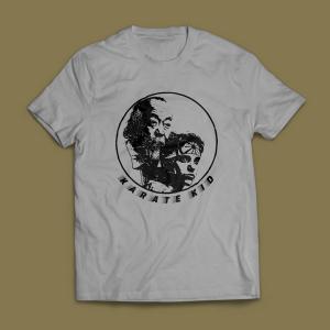 Camiseta Karate Kid Masculina Cinza Mescla