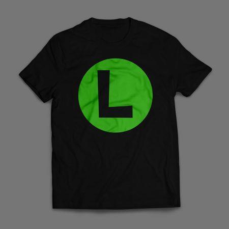 Camiseta Luigi Emblema Masculina Preta