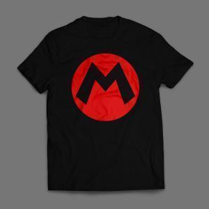 Camiseta Mario Emblema Masculina Preta