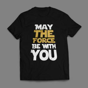 Camiseta May The Force Be With You Masculina Preta