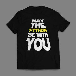 Camiseta May The Python Be With You Masculina Preta
