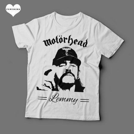 Camiseta Motorhead Lemmy Feminina Branca