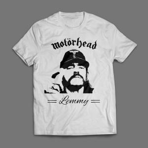 Camiseta Motorhead Lemmy Masculina Branca