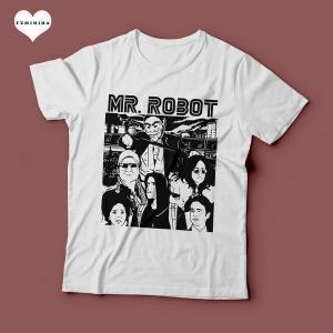 Camiseta Mr. Robot Série Feminina Branca