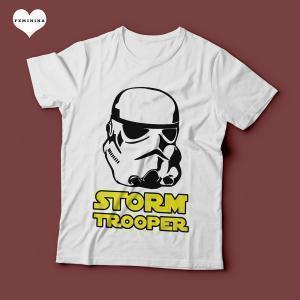 Camiseta Star Wars Stormtrooper Feminina Branca