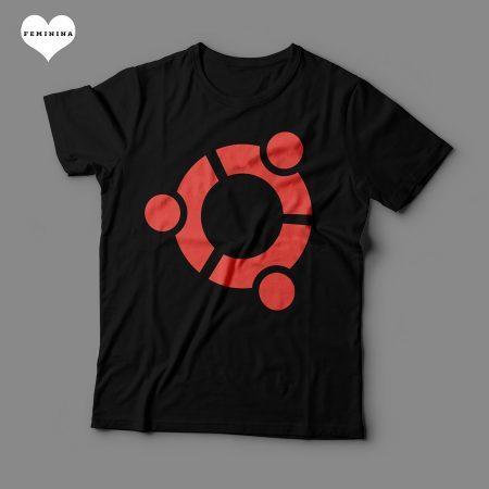 Camiseta Ubuntu Feminina Preta