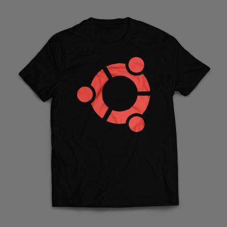 Camiseta Ubuntu Masculina Preta