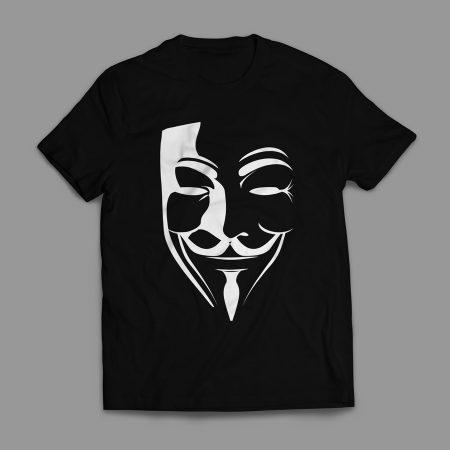 Camiseta V de Vingança Masculina Preta