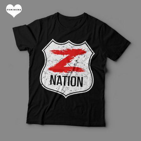 Camiseta Z Nation Feminina Preta